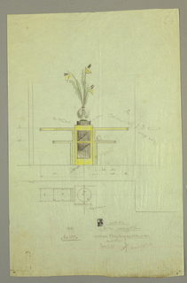Drawing, Design for Console Table with Vase of Flowers, 1932