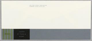 Envelope, Jager Di Paola Kemp, 1993