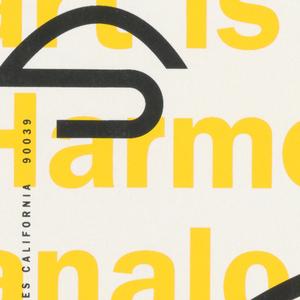 "Print/ephemera, ""SOS: Art is Harmony"": Su, 1991"