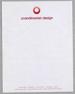 Letterhead, Scandinavian Design