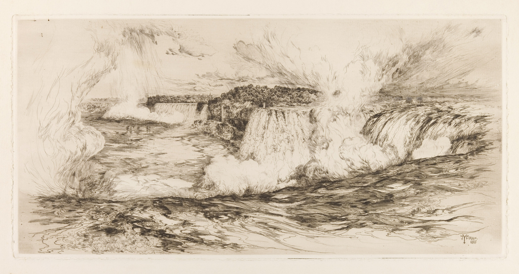 Print, Niagara Falls from the Canadian Side