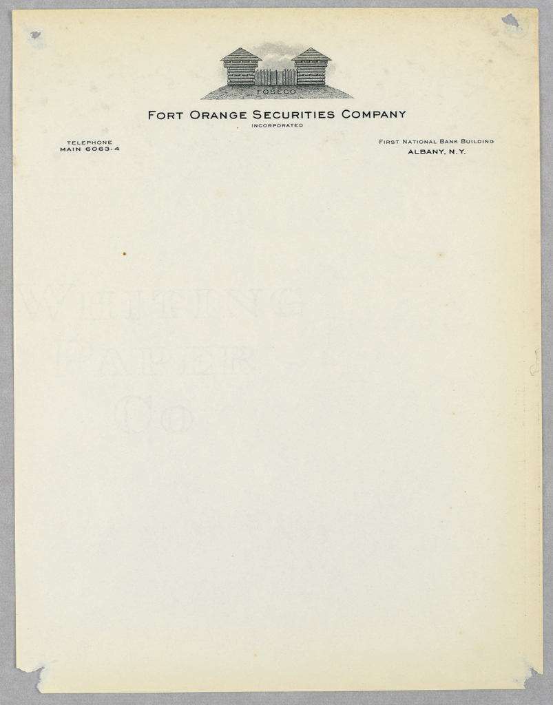 Letterhead, Fort Orange Securities Co. Inc.