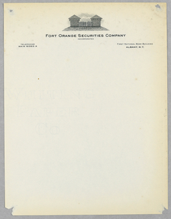 Letterhead, Fort Orange Securities Co. Inc.