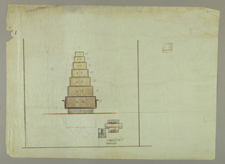 Drawing, Design for Boxes with Double Doors Unit