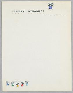 Letterhead, General Dynamics Corp.