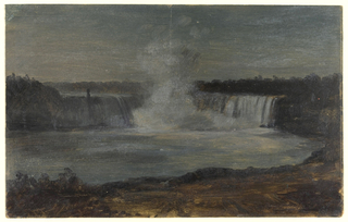 Horizontal view of Horseshoe Falls and the river below.