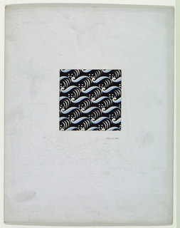 On black background, light blue and white wave patterns accented with white slashes and dots.