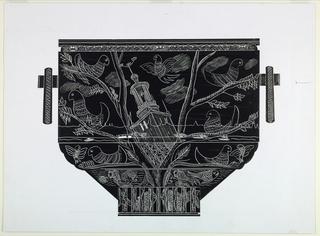Drawing, Design for a Crystal Vase: Stockholm, 1956