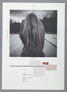 "Print/poster, Poster for ""The Next Generation: Student Work from the United States"" Competition, 2AES, Art and Exhibition Space, San Francisco, 1990"