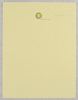 Letterhead, Benefit Color Co.
