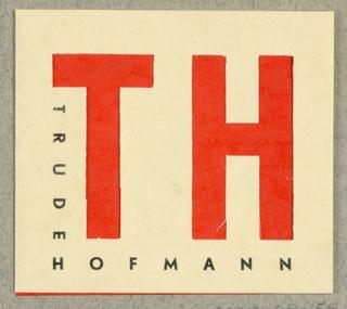 Business Card, TH (Trude Hofmann) Vienese Models