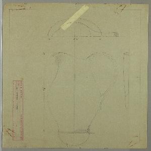 Design for a milk pitcher.