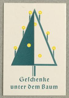 Business Card, Geichenke unter dem Baum, Richard Schafranik