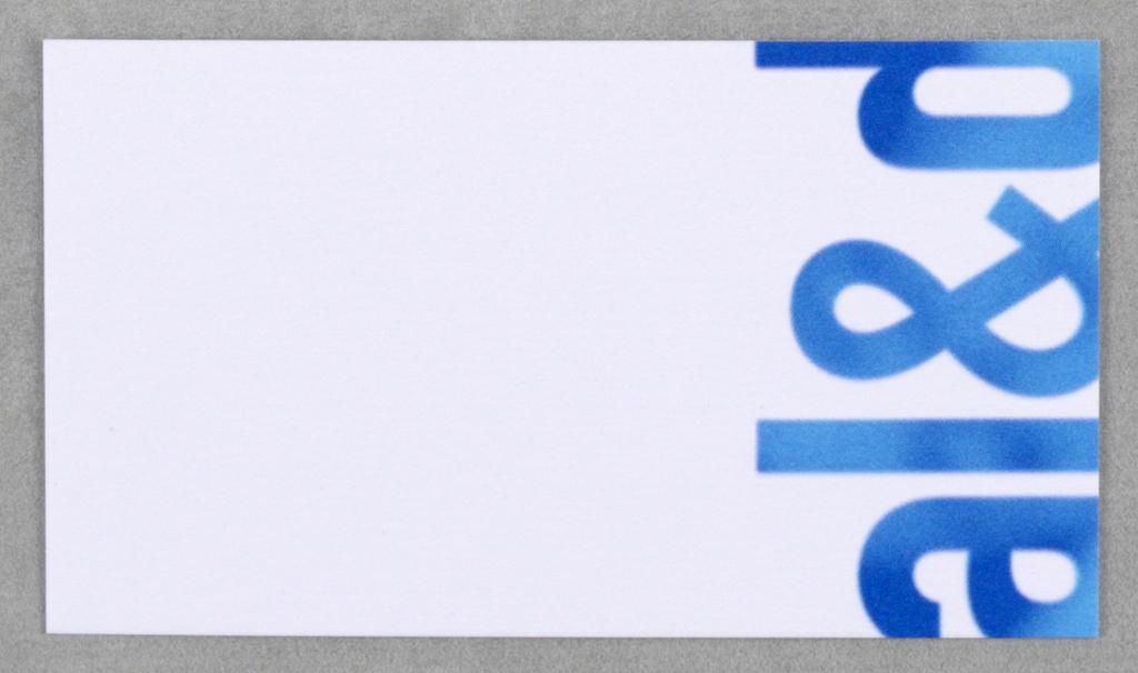Business card business card for faculty of architecture landscape business card for faculty of architecture landscape and design at university of toronto recto colourmoves