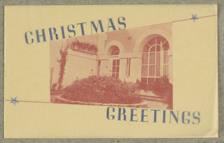 Greeting Card, Christmas Greetings / Constance Paul