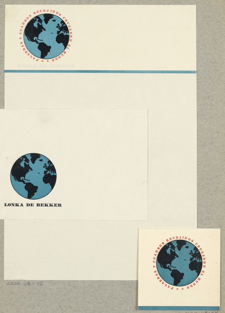 Letterhead, Palabras y Cuadros Recojidos Cruzando El Mundo [Word and Picture Throughout the World], Lonka de Bekker