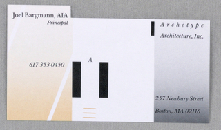 Business Card, Archetype Architecture, Inc.