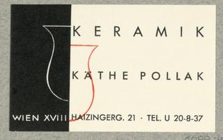 Business Card, Keramik Käthe Pollak