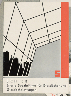 Brochure, Schieb, Älteste Spezialfirma fur Glasdächer und glasdachdichtungen [Schieb, Oldest Firm Specializing in Glass Ceilings and Impermeable Glass Ceilings]