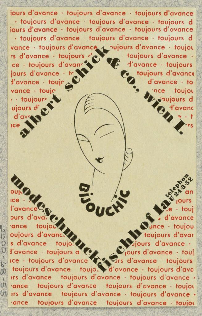 Business Card, Albert Schick & Co., Wien, Bijouchic