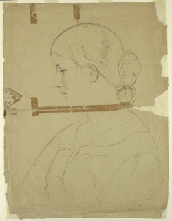 Drawing, Woman in Profile, Model in Rome, 1840