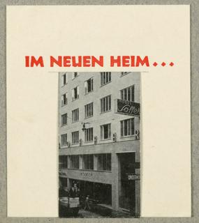 Business Card, Im Neuen Heim...Ilde John-Leeb, Wien