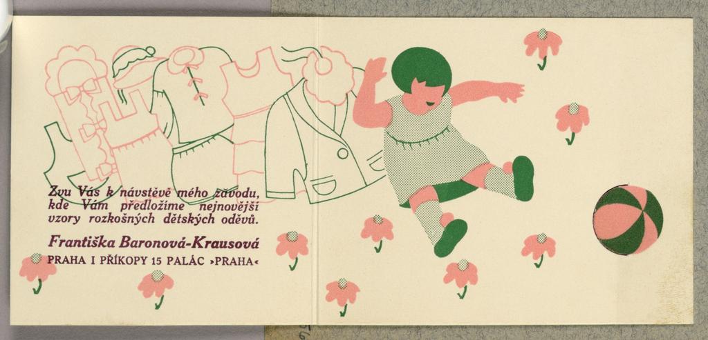 Business Card, Frantiska Baronova - Krausova