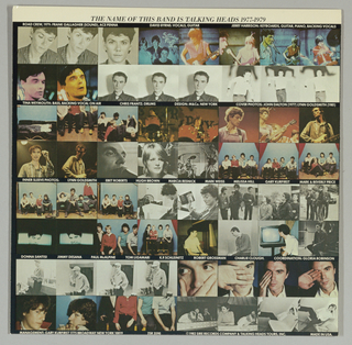 Album Cover, Talking Heads:  The Name of this Band is Talking Heads
