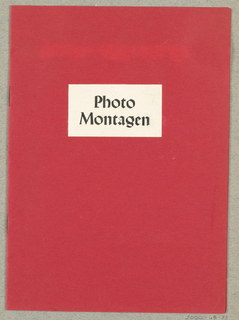 Brochure, Photo Montagen [Photomontage]