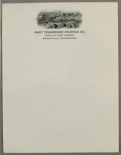 Letterhead, East Tennessee Packing Co, ca. 1940–65