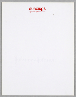 """Upper center in red, Company name with """"A Johnson + Johnson Company"""" imprinted in  script type below.  Letterhead for what is probably a medical supply company."""