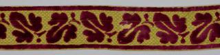 Seven velvet braids of different designs.