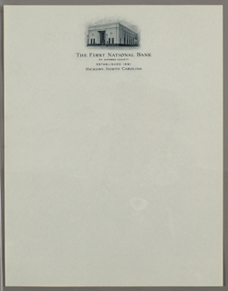 Letterhead, The First National Bank o, ca. 1940–65