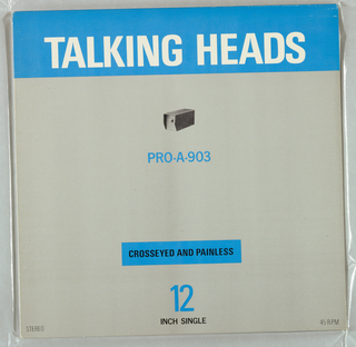 Album Cover, Talking Heads:  Crosseyed and Painless