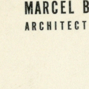 Business Card, Marcel Breuer, Architect  A.I.A., ca. 1956