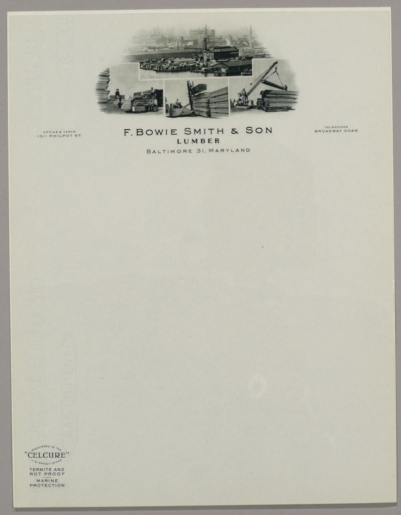 Print, Design for Letterhead: F., ca. 1940–65