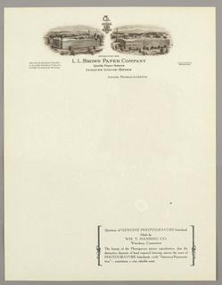 Letterhead (USA), ca. 1940–65