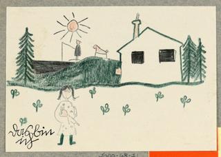 Postcard, Kinder kommt in Tante Gretes [Children Come to Aunt Grete's], Wien