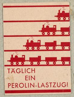 Brochure, Täglich ein Perolin-Lastzug!