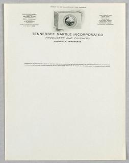 Letterhead, Tennessee Marble Inc.
