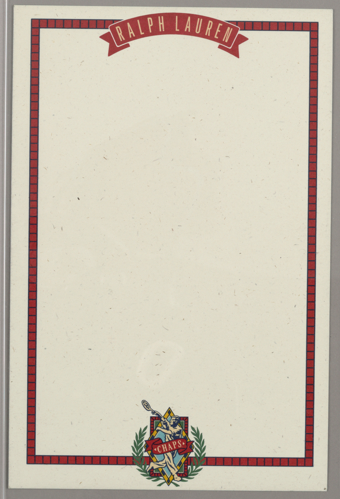 Letterhead, Ralph Lauren/Chaps ID (tennis player)