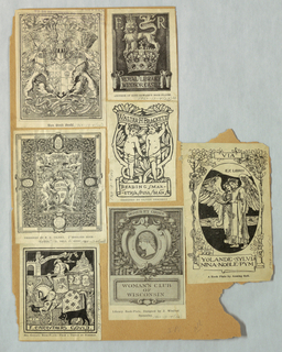 Bookplate reproduction on single page with -27, -28, -29, -30, -31 & -32: Bibliothek Zeichen