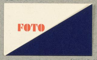 Business Card, Foto Pragan (Hans Pragan)
