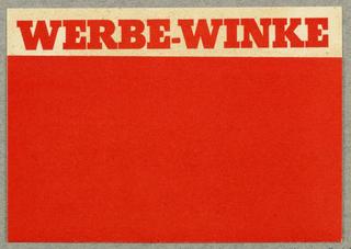 Brochure, Werbe-Winke, Zeitschrift des Instituts für Werbung und Verkauf in Wien