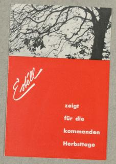 Brochure, Estell - Zeight für die kommenden Herbsttage