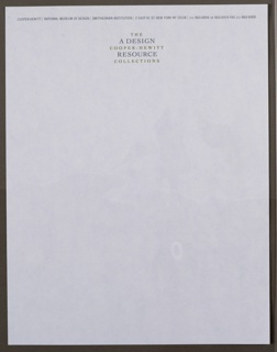 Letterhead Stationary, The Cooper-Hewitt Collect