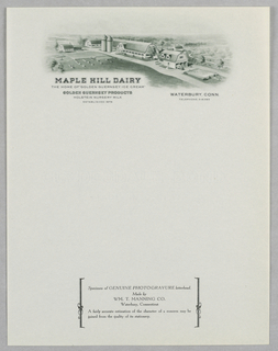 Letterhead, Maple Hill Dairy