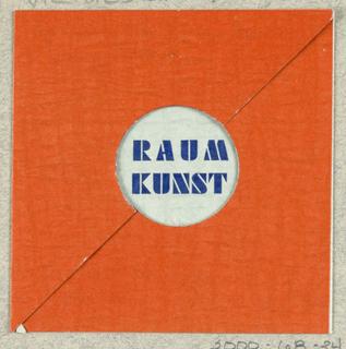 Business Card, Raum Kunst [Interior Decoration]/ Architek Fritz Sternschein