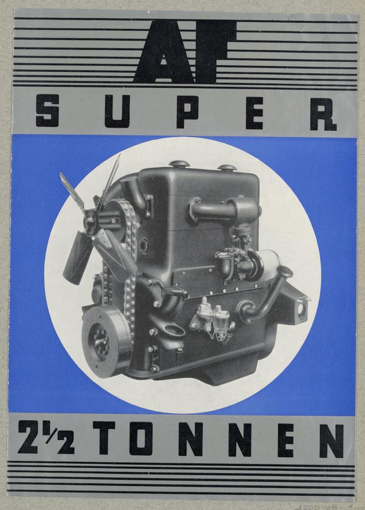 Brochure, Austro-Fiat (AF) Super 2 1/2 Tonnen