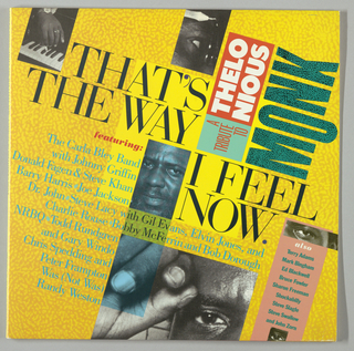 Album Cover, Thelonious Monk, that's the Way I Feel Now
